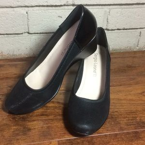 Sergio Leone black wedge ballerinas Sz 38 eur 8 us